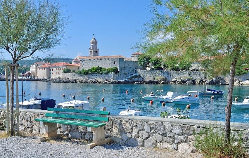 Blick auf Krk-Ort auf der Insel Krk,Adria,Kvarner Bucht,Kroatien